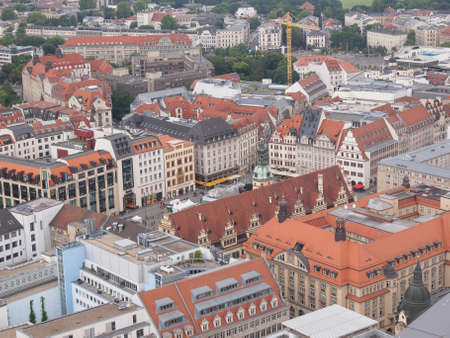 leipzig: Aerial view of the city of Leipzig in Germany