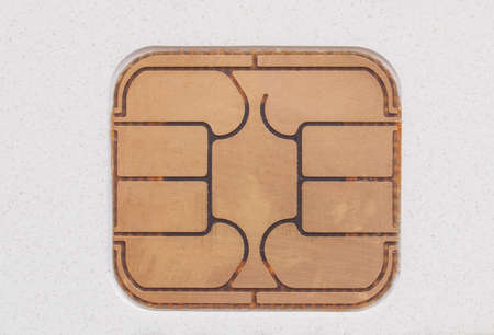 Electronic chip on a credit card or debit card