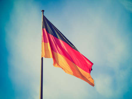 Vintage retro looking The national German flag of Germany (DE) photo