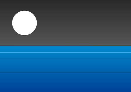 Simple scene - Sea with moonlight photo