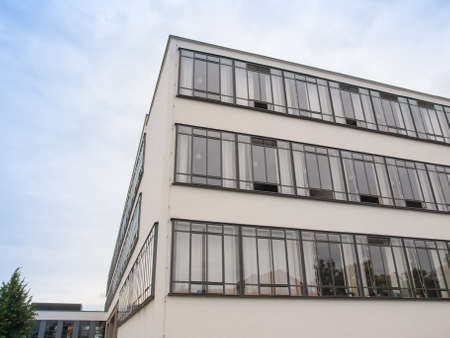 rationalism: DESSAU, GERMANY - JUNE 13, 2014: The Bauhaus art school iconic building designed by architect Walter Gropius in 1925 is a listed masterpiece of modern architecture Editorial