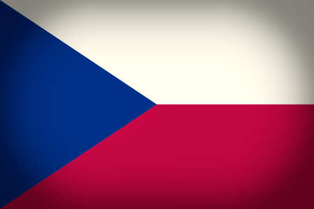 ceska: Vintage looking vignetted Flag of the Czech Republic