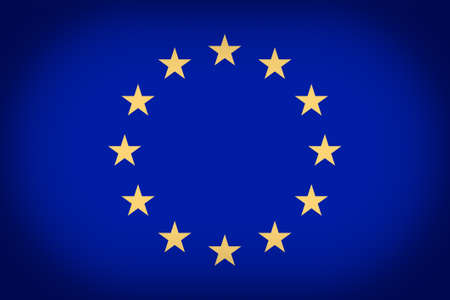 vignetted: Vintage looking vignetted Flag of the European Union