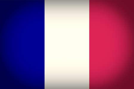 vignetted: Vintage looking vignetted French flag of France