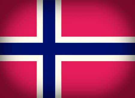 vignetted: Vintage looking vignetted Norwegian flag of Norway