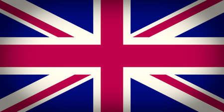 bandera reino unido: Vendimia que mira la vi�eta de la bandera del Reino Unido de la Gran Breta�a tambi�n conocido como Union Jack Foto de archivo