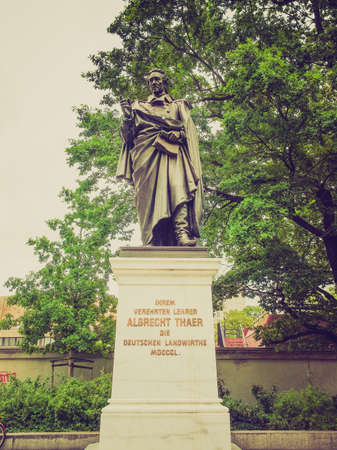 agronomist: Monument to German agronomist Albrecht Thaer in Leipzig Germany Editorial