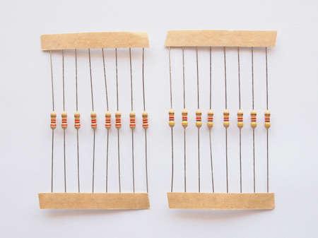 composant ?lectrique: La r�sistance passive � deux composants borne �lectrique de la r�sistance �lectrique � r�duire le flux de courant et de tension de niveau bas � l'int�rieur de circuit