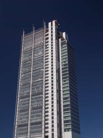 TURIN, ITALY - AUGUST 14, 2014: The new San Paolo bank headquarters designed by Renzo Piano and currently under construction are the highest skyscraper in town Editorial