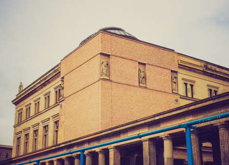 neues: Vintage looking Neues Museum in Museumsinsel in Berlin Germany