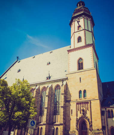 worked: Thomaskirche St Thomas Church in Leipzig Germany where Johann Sebastian Bach worked as a Kapellmeister and the current location of his remains