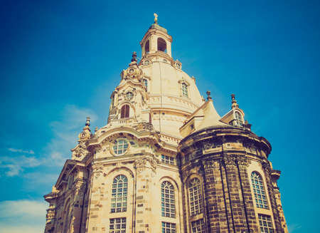 frauenkirche: Dresdner Frauenkirche meaning Church of Our Lady in Dresden Germany Stock Photo