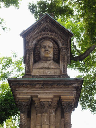 felix: The Altes Bach Denkmal meaning Bach old monument close to the St Thomas Church is the world oldest monument to Johann Sebastian Bach donated by Felix Mendelssohn Bartholdy in 1843 in Leipzig Germany