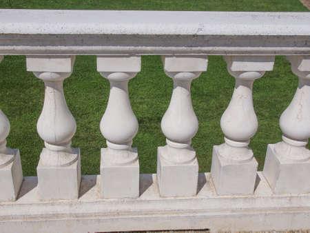 shafts: Ancient baroque balustrade made of baluster shafts