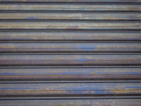 sectional door: Metal roller shutter door useful as a background Stock Photo