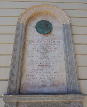friedrich: Commemorative plaque for Friedrich Nietzsche at his Italian house