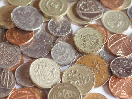 pence: Pounds and pence - currency of the United Kingdom Stock Photo