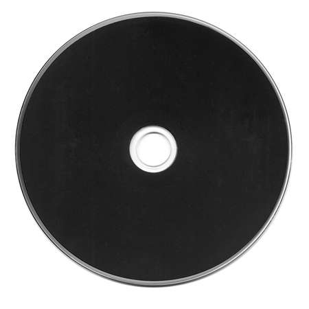 Black CD or DVD isolated over white background
