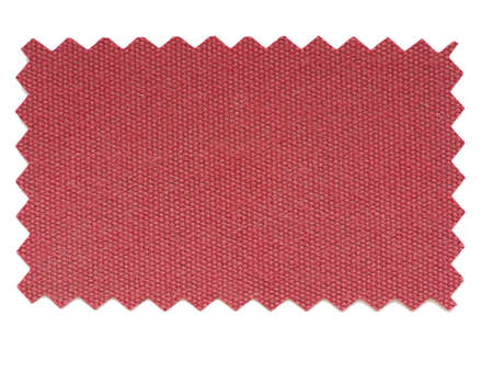 zig zag: Red fabric swatch cut with pinking shears zig zag scissors