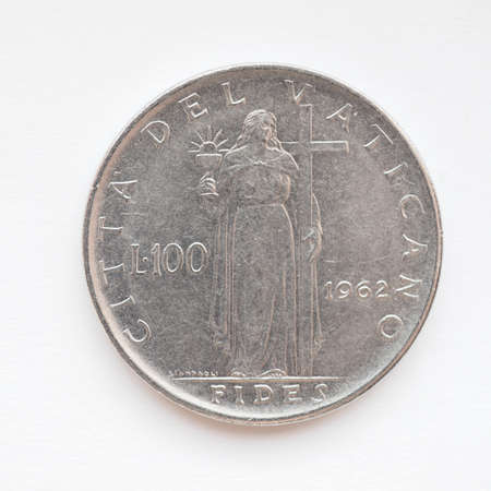 withdrawn: Old Vatican liras coins now withdrawn and replaced by Euro