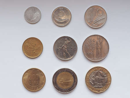 replaced: Old Italian liras coins now withdrawn and replaced by Euro