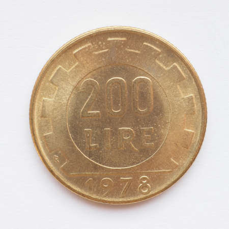 withdrawn: Old Italian liras coins now withdrawn and replaced by Euro