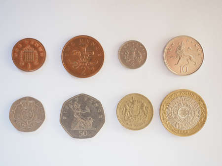 pence: Full series of Pound and Pence coins currency of the United Kingdom