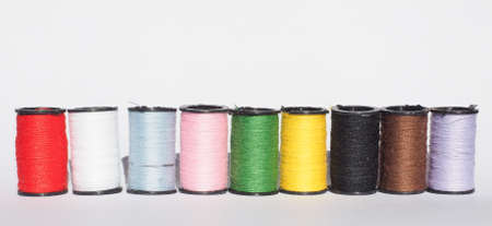 sewing kit: Travel sewing kit including thread spools of many different colours
