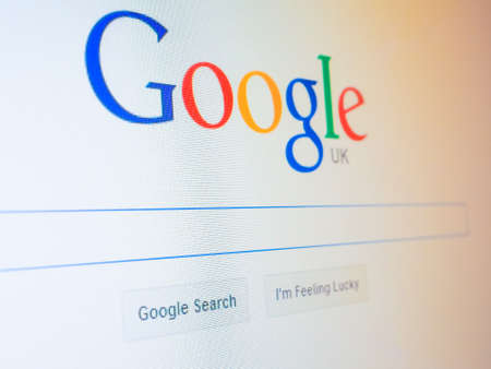 google: LONDON, UK - DECEMBER 15, 2014: Home page of Google search engine