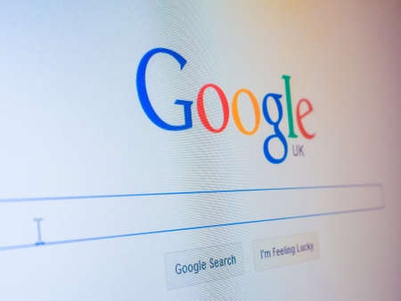LONDON, UK - DECEMBER 15, 2014: Home page of Google search engine