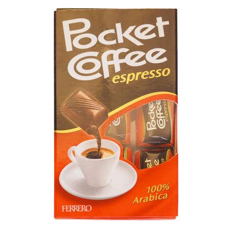 ferrero: ALBA, ITALY - DECEMBER 15, 2014: Ferrero Pocket Coffee espresso