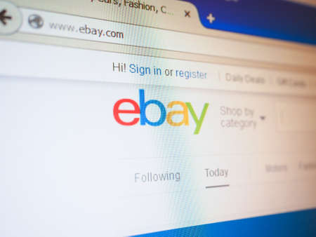 ebay: SAN FRANCISCO, USA - DECEMBER 23, 2014: Home page of Ebay e-commerce web site