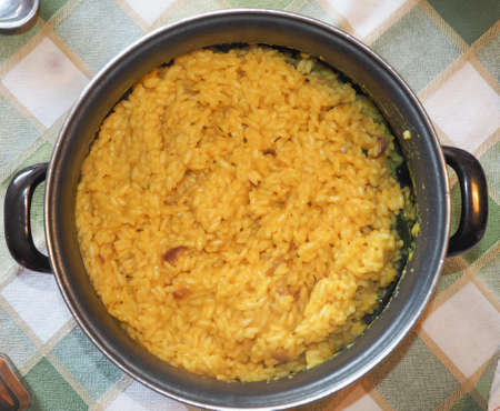 typical: Saffron rice typical Indian food