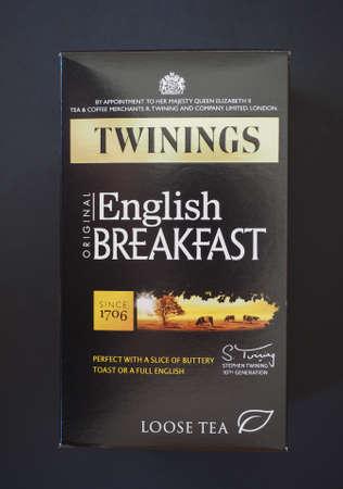english breakfast: LONDON, UK - JANUARY 6, 2015: Twinings English breakfast loose tea