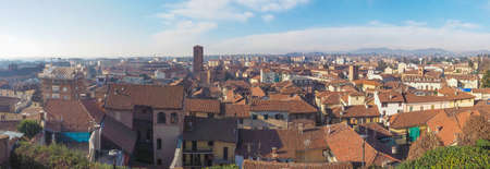 chiesa: Larege panoramic aerial view of the city of Chieri from the Chiesa di San Giorgio meaning St George church