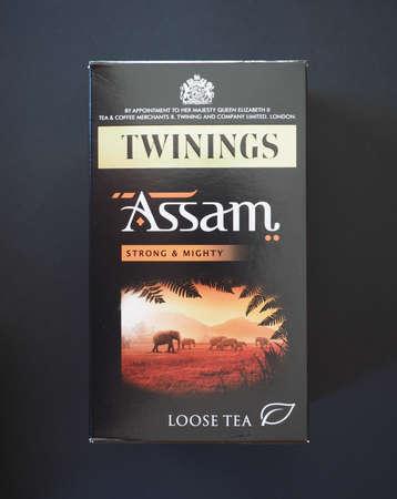 assam tea: LONDON, UK - JANUARY 6, 2015: Twinings Assam loose tea