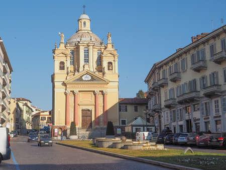 Bernardino: Baroque church of San Bernardino meaning St Bernardine in Chieri Italy Editorial