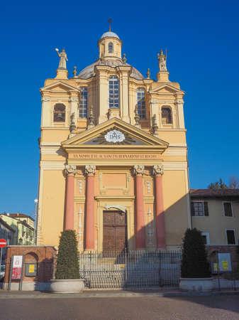 Bernardino: Baroque church of San Bernardino meaning St Bernardine in Chieri Italy Stock Photo