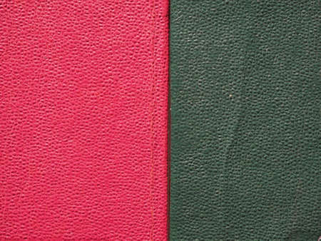 leatherette: Red and green leatherette texture useful as a background Stock Photo