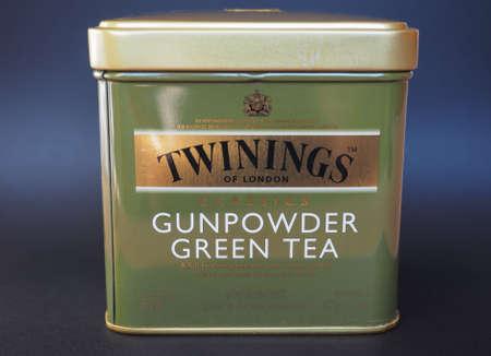 gunpowder tea: LONDON, UK - JANUARY 6, 2015: Twinings Gunpowder Green tea