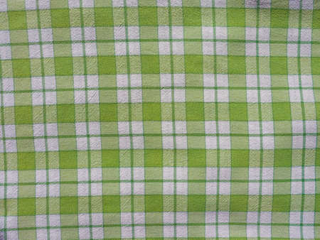 checkered tablecloth: Green checkered tablecloth texture useful as a background