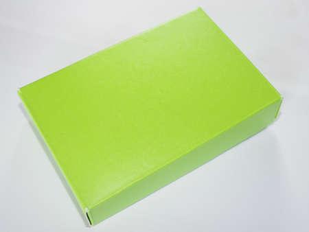 hintergrund gr�n gelb: Gr�n gelb Papierkasten-Paket Lizenzfreie Bilder