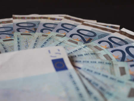 twenty: Twenty Euro banknotes currency of Europe