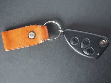 key ring: Car key with wireless remote control for door opening and key ring