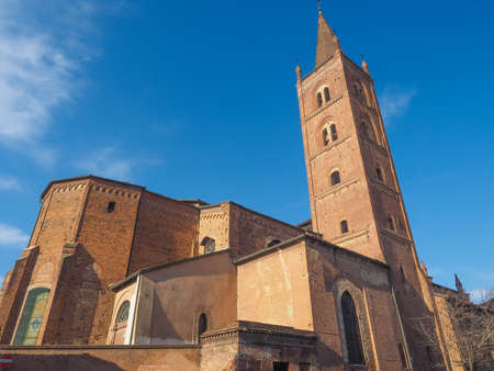 chiesa: Chiesa di San Domenico gothic church in Chieri Italy Stock Photo