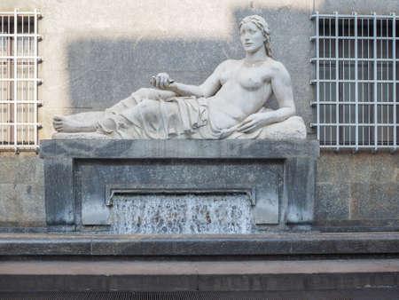 dora: Statue of river Dora in Turin Italy