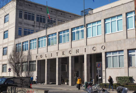 technical university: TURIN, ITALY - FEBRUARY 25, 2015: The Politecnico di Torino meaning Polytechnic University of Turin is the oldest public technical university in Italy, established in 1859
