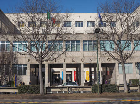 oldest: TURIN, ITALY - FEBRUARY 25, 2015: The Politecnico di Torino meaning Polytechnic University of Turin is the oldest public technical university in Italy, established in 1859