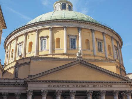 borromeo: Church of Saint Charles Borromeo aka San Carlo al corso in Milan, Italy Stock Photo