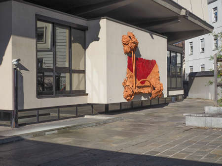 oldest: TURIN, ITALY - FEBRUARY 25, 2015: The GAM Galleria Arte Moderna e Contemporanea meaning Gallery of modern and contemporary art is the oldest and largest art gallery in Turin
